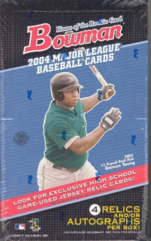 2004 Bowman MLB Baseball Jumbo Box