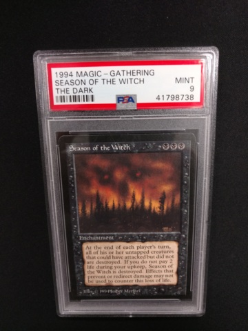 Season of the Witch PSA 9 Mint The Dark MTG Magic Graded Card