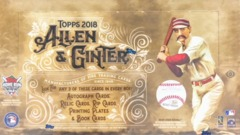 2018 Topps Allen & Ginter MLB Baseball Hobby Box
