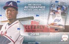 2018 Topps Clearly Authentic MLB Baseball Hobby Box