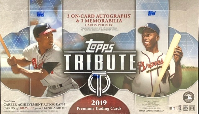 2019 Topps Tribute MLB Baseball Hobby Box