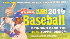 2019 Topps Heritage High Number MLB Baseball Hobby Box