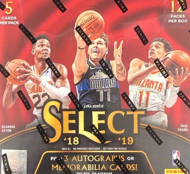 2018-19 Panini Select NBA Basketball Hobby Box