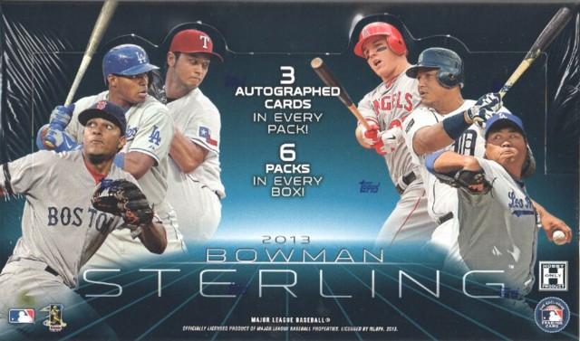 2013 Bowman Sterling MLB Baseball Hobby Box