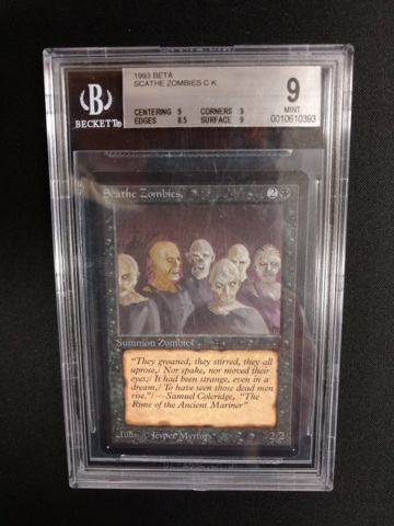 Scathe Zombies BGS 9 MINT Beta MTG Magic Graded Card