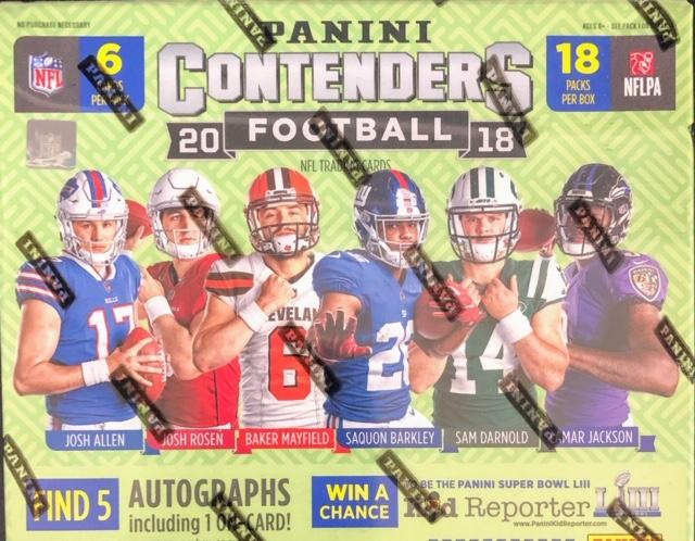2018 Panini Contenders NFL Football Hobby Box