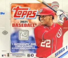 2021 Topps MLB Baseball Series 1 Jumbo Box