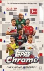 2018-19 Topps Chrome Bundesliga Soccer Hobby Box