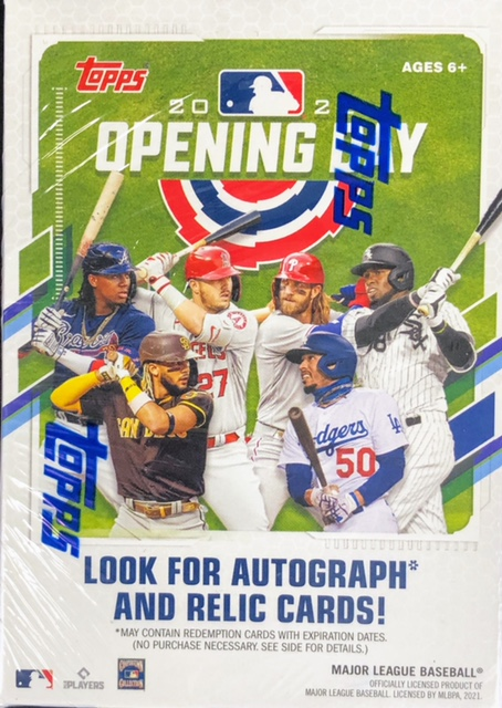 2021 Topps Opening Day MLB Baseball Blaster Box