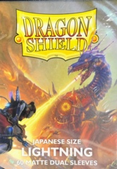 Dragon Shield 60 Count Japanese Size Card Sleeves - Dual Matte Lightning