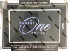 2019-20 Panini One and One NBA Basketball Hobby Box