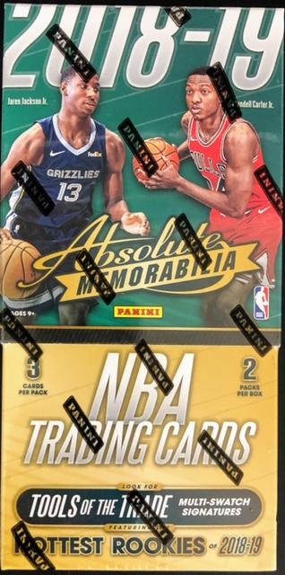 2018-19 Panini Absolute Memorabilia NBA Basketball Hobby Box
