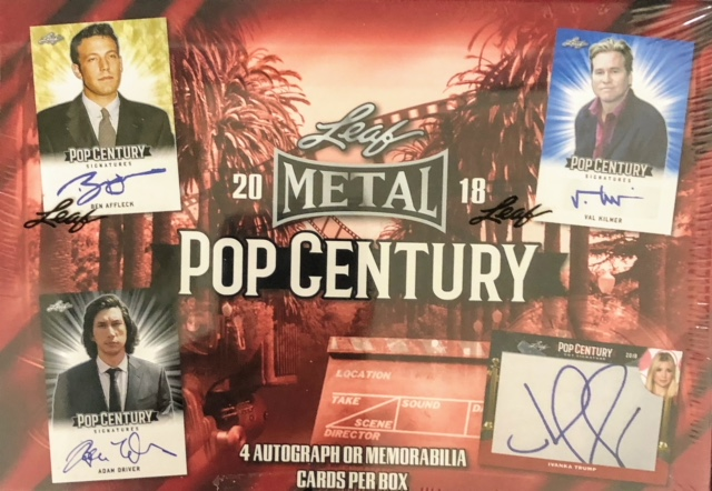 2018 Leaf Pop Century Trading Cards Hobby Box