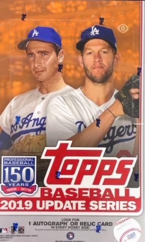 2019 Topps Update Series MLB Baseball Hobby Box