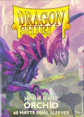 Dragon Shield 60 Count Japanese Size (YuGiOh) Card Sleeves - Dual Matte Orchid