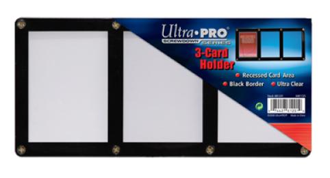 Screwdown Black-Frame 3-card Holder