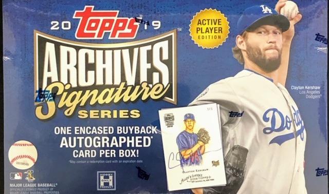 2019 Topps Archives Signature Series MLB Baseball Hobby Box - Active Player Edition