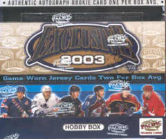 2002-03 Pacific Exclusive Hockey Hobby Box