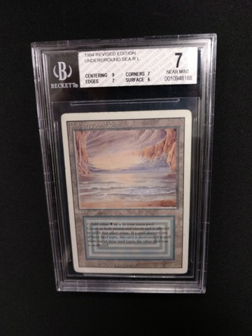 Underground Sea BGS 7 NM 3rd Edition / Revised MTG Magic Graded Card