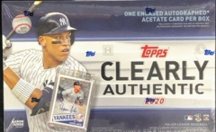 2020 Topps Clearly Authentic MLB Baseball Hobby Box