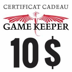 Certificat-cadeau 10$ Gift Certificate