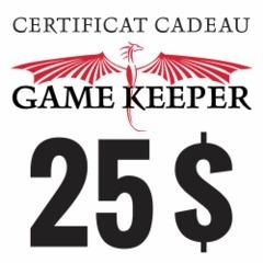 Certificat-cadeau 25$ Gift Certificate