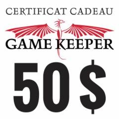 Certificat-cadeau 50$ Gift Certificate