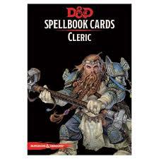 Dungeons And Dragons: Updated Spellbook Cards - Cleric 2nd Edition