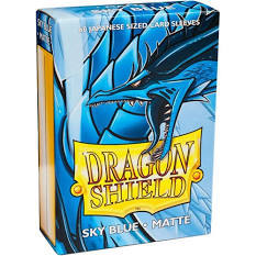 Dragon Shield Matte - Japanese size - Sky Blue - 60 ct