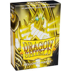 Dragon Shield Matte - Japanese size - Yellow - 60 ct