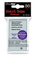 Ultra Pro: Board Game Sleeves: Mini European (44mm x 68mm)