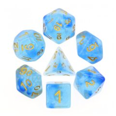 HD DICE 7 GLITTER CLEAR BLUE