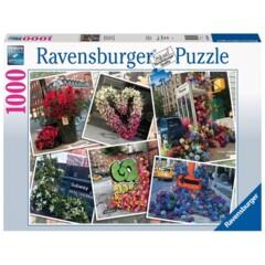 PUZZLE 1000 RAVENSBURGER NYC FLOWER FLASH