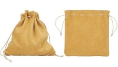 DICE BAG LEATHER POUCH TAN