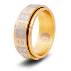 DICE RING GOLD 10