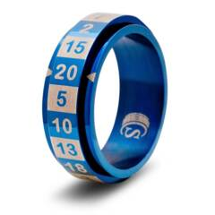 DICE RING BLUE 6