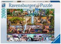 PUZZLE 2000 WILD KINGDOM SHELVES