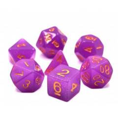 HD DICE 7 GLITTER PURPLE