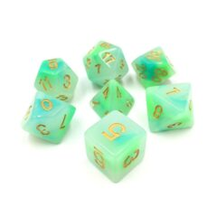 HD DICE 7 JADE BLUE GREEN
