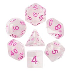 HD DICE 7 CLEAR PINK CLOUNDY P