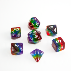HD DICE 7 CLEAR RED GREEN YELL