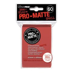 Red Matte - Ultra Pro Card Sleeves - Small Sized (60 pack)