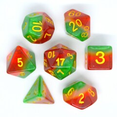 HD DICE 7 LAYER GREEN WHITE RE