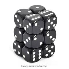 HD DICE 12D6 OPAQUE BLACK