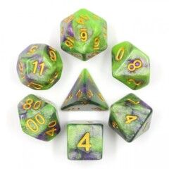 HD DICE 7 GEMINI GREEN PURPLE