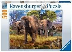 PUZZLE 500 ELEPHANT FAMILY