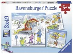 PUZZLE 3x49 LETS GO SKIING