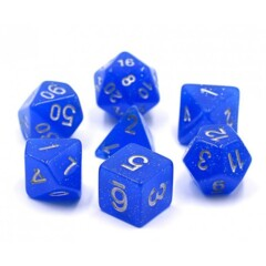 HD DICE 7 GLITTER BLUE