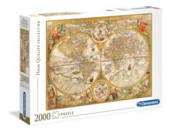 PUZZLE 2000 CLEMENTONI ANCIENT MAP