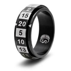 DICE RING BLACK 12